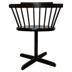 "Vintage Industrial Swedish Wood and Metal ""E10"" Chair from Nesto"