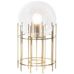 Tplg3 hand polished brass table lamp