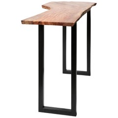 Live Edge Free Standing Bar Height Table by Alabama Sawyer