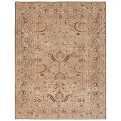 Hellblauer und brauner antiker persischer Khorassan Teppich