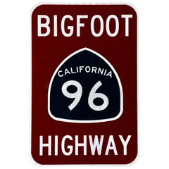 "California ""BIGFOOT HIGHWAY"" Road Sign"