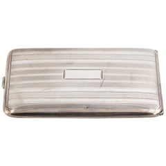 Art Deco Sterling Silver Card Case