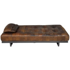 Vintage Swiss De Sede DS 80 Patchwork Leather Daybed, 1960s