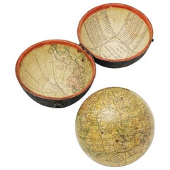 18th Century English Pocket Globe by John and William Cary, 1791