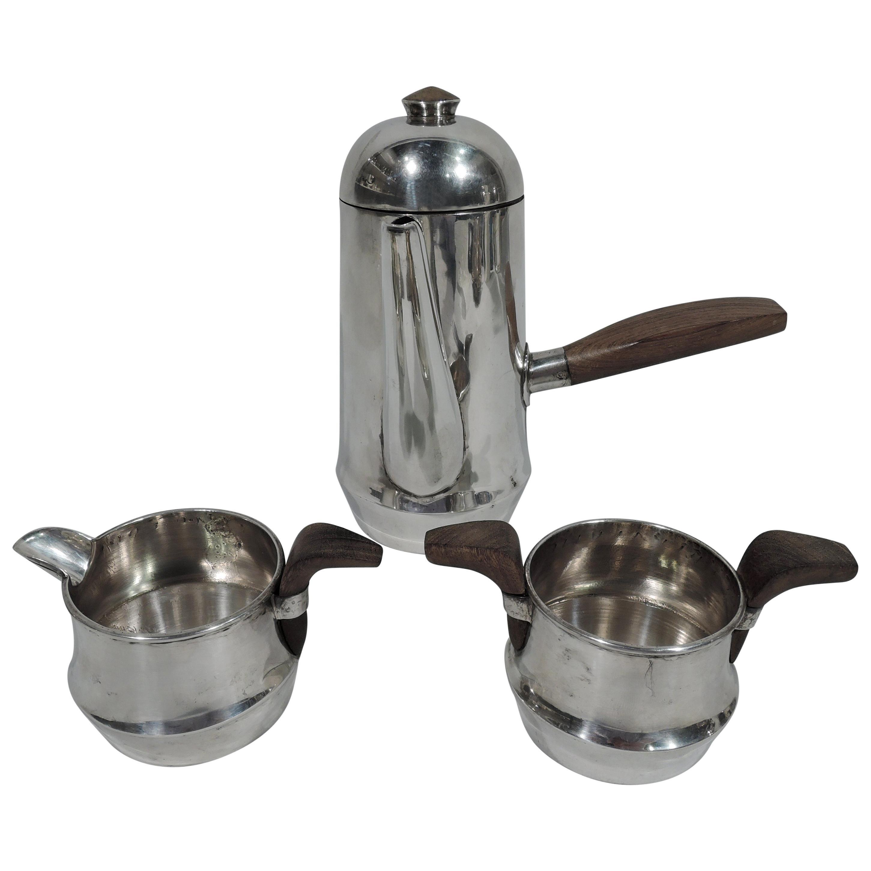 Spratling Mid-Century Modern Sterling Silver 3-Piece Coffee Set