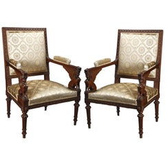 Elegant Pair of Directoire Style Armchairs