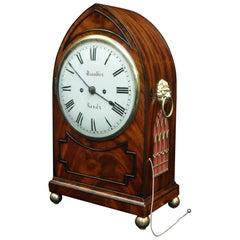 English Regency Mahogany Bracket Clock with Pull Repeat