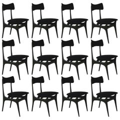 Set of 12 Vintage Modernist Alfred Hendrickxs Dining Chairs S3 Belform, Belgium