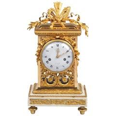 Louis XVI Gilt Bronze Mantel Clock by Etienne Lenoir