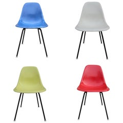 Primary Color/Mondrian Style Herman Miller Eames Dining Chairs