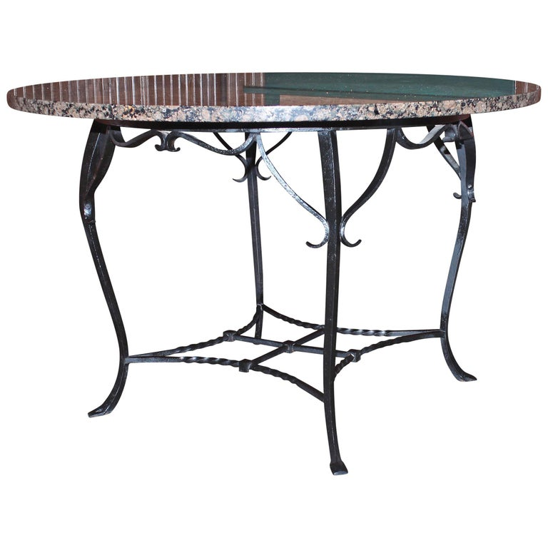 Granite Top Round Dining Table For Sale