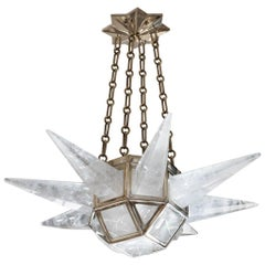 Contemporary Rock Crystal Quartz Chandelier by Phoenix