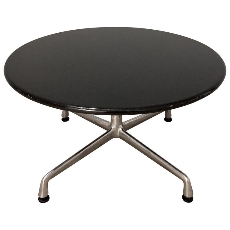 Pair of Eames for Herman Miller Granite Side Tables For Sale
