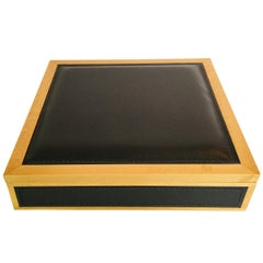 Giobagnara Leather and Wood Box with Tray