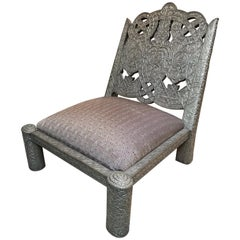 Short Maharaja Repousse Chair