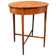 Regency Mahogany Oval Side Table or Stand, circa 1795, England