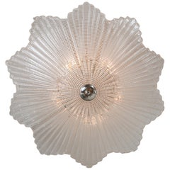 Large Venetian Star-Shaped Ceiling Fixture in Nickel or Customizable