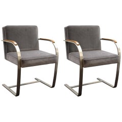 Mies van der Rohe for Knoll Brno Armchairs