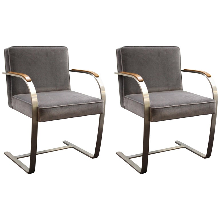 Mies van der Rohe for Knoll Brno Armchairs For Sale