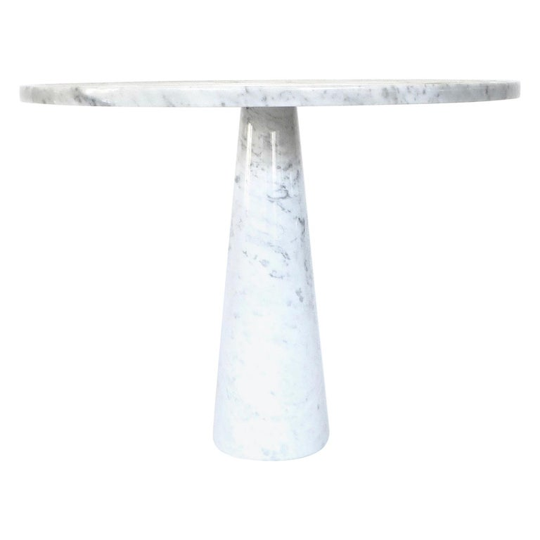 Angelo Mangiarotti Eros for Skipper Carrara Marble Dining or Centre Table For Sale