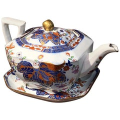 Spode Ironstone 'Cabbage Pattern' Teapot and Stand, circa 1815