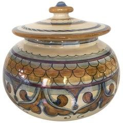 Francesca Niccacci Italian Majolica Ceramic Jar