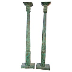 Pair of 19th Century Indonesian Carved Columns
