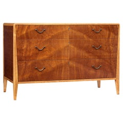 Mid-20th Century Scandinavian Mahogany Chest of Drawers