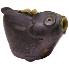 1940s Studio Pottery Fish Pitcher by Emily Reinse