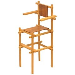 Dutch, Mid-Century Modern Design, Gerrit Rietveld High Chair, 1960s