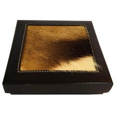 Square African Box with Lid