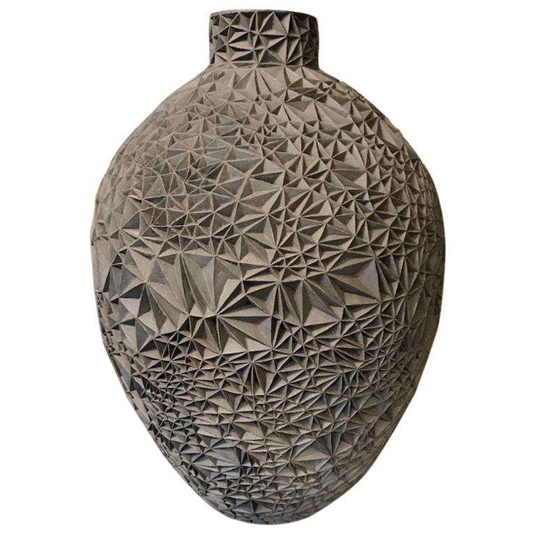 Ceramic Vase 'Primavera' by Leah Jensen For Sale