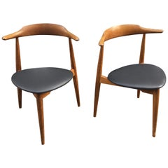 Hans Wegner Stacking Chairs for Fritz Hansen Model 4104