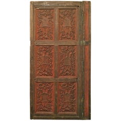 French 19th Century Louis XVI Hand Painted Hand Carved Decorative Door