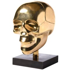 Brass Skull Box