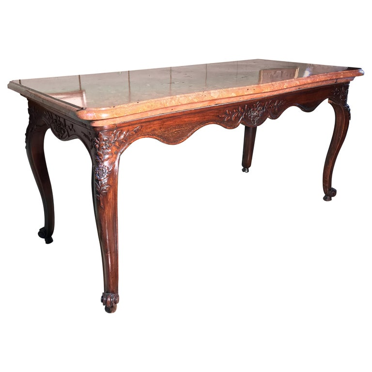 """Exceptional 18th Century Louis XV Console Table """"Hunting Table"""", circa 1760 For Sale"""