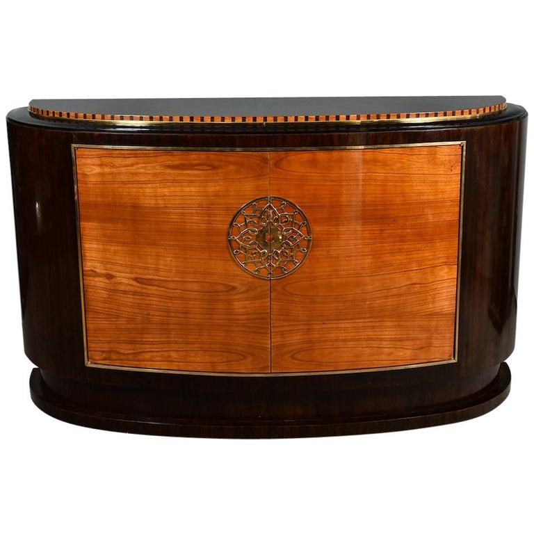 Art Deco French Sideboard in Walnut For Sale