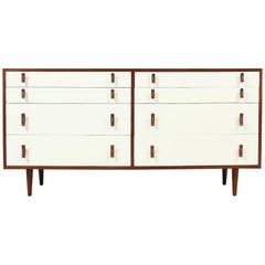 Stanley Young Two-Tone Lacquered and Walnut Dresser for Glenn of California