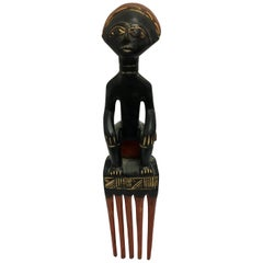 Decorative African Folk Art Mid-Century Modern Tribal Hanging Sculpture