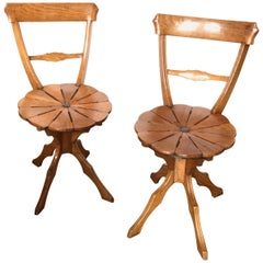 19th Century Garden Patio kitchen Chairs side hallway seats Los Angeles Antiques