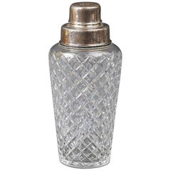 Silver Cut Glass Cocktail Shaker