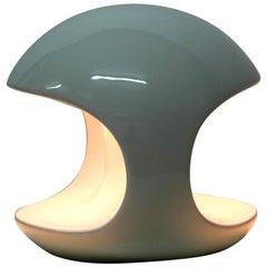 Schöne 1960er Jahre Pop Art Space Age weißer Keramik Tischleuchte Made in Italy
