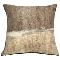 """Rustic Modern Artisan Wool """"Tahoe"""" Pillow"""