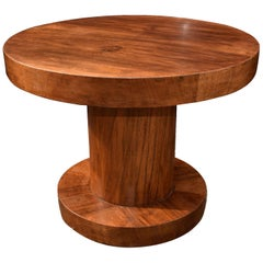1930s Modernist Art Deco Walnut Occasional Table
