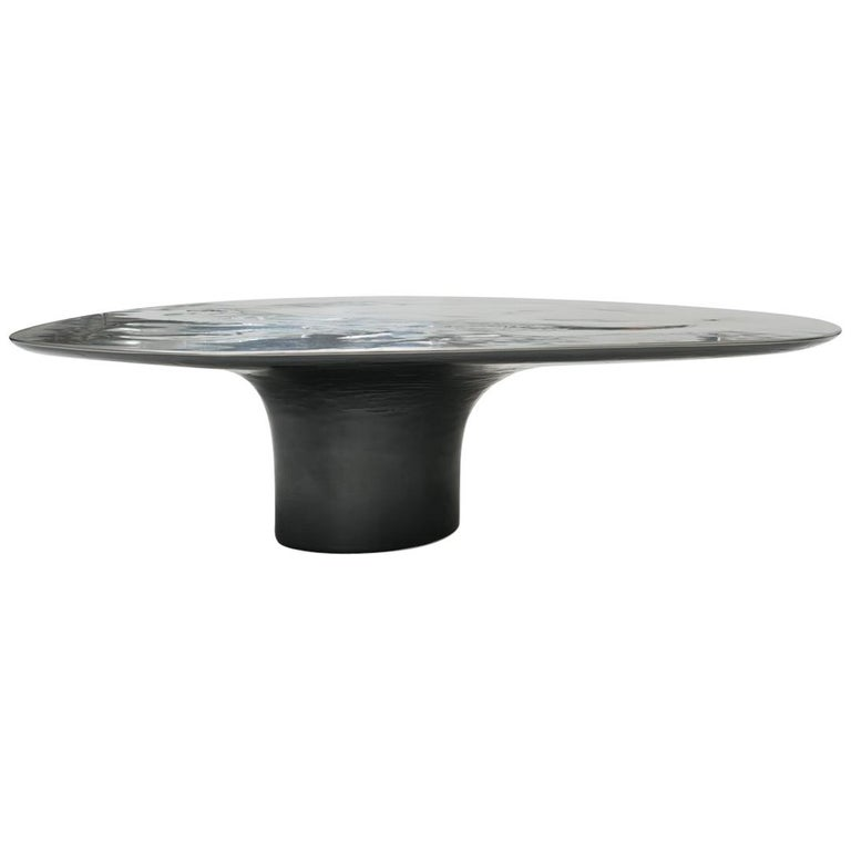 NR 2 Liquid Metal Low Cocktail Table For Sale