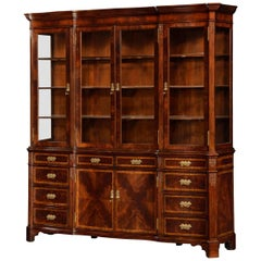 Chippendale Serpentine Mahogany Bookcase