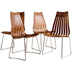 Hans Brattrud Rosewood Scandia Dining Chairs by Hove Mobler, Set of Four