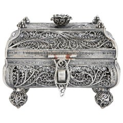 19th Century Jewish Silver Filigree Spice Box