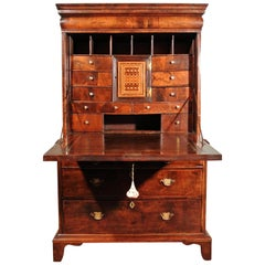Walnut and Marquetry Scriptor Escritoire, circa 1715