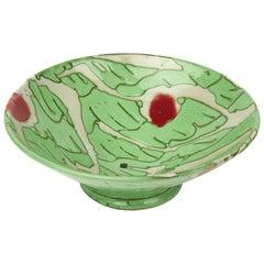 Clive Davis grüne Studio Keramik abstrakte farbige Schale